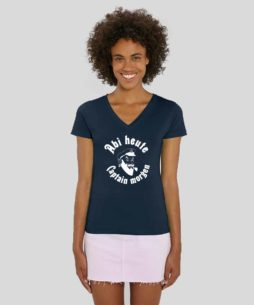 Elena Frauen T Shirt V Neck Navy 254x305 - Abi-Shirts