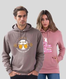 Kim Unisex Hoodie Anthracite Pink 254x305 - Abi-Shirts